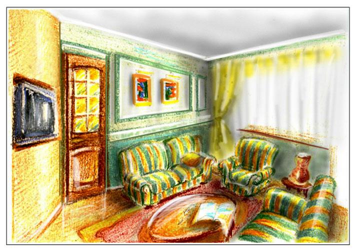 Спальня гостиная дизайн проект